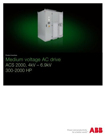 Medium voltage AC drive - Simark Controls