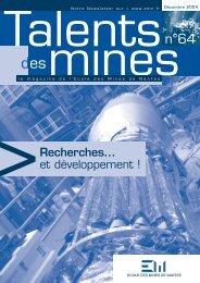 Recherches... et développement ! - Ecole des mines de Nantes