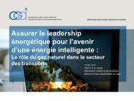 le gaz naturel, l'énergie intelligente - Canadian Gas Association