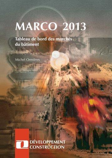 MARCO 2013 - Développement Construction