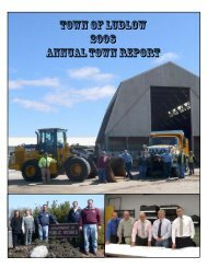 TOWN OF LUDLOW 2008 ANNUAL TOWN REPORT