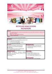 RECYCLAGE HABILITATIONS B0/H0/BS/BE