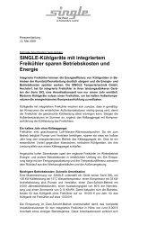 Pressemitteilung weiterlesen - SINGLE Temperiertechnik GmbH