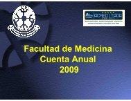 Descargar Cuenta Pública 2009 - Facultad de Medicina UFRO ...