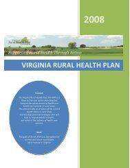 The Virginia Rural Health Plan (2008) - Virginia's State Rural Health ...
