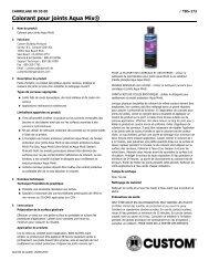 Colorant pour joints Aqua Mix® - Custom Building Products