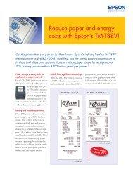TM-T88V Paper & Energy Savings Flyer - Epson POS Printers