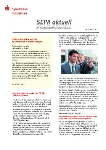 SEPA Aktuell Nr. 6 - Sparkasse Bodensee