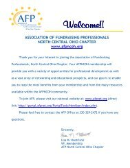Association of fundraising professionals north - the AFP North ...