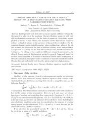 Volume 11, 2007 31 IMPLICIT DIFFERENCE SCHEME FOR THE ...
