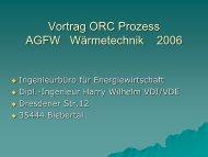 Vortrag ORC-Prozess - Ingenieurbüro Harry Wilhelm
