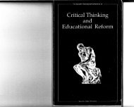 Educational ReforDl August 6-9, 1989 - The Critical Thinking ...