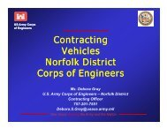 Us army corps of engineers contracting vehicles norfolk district