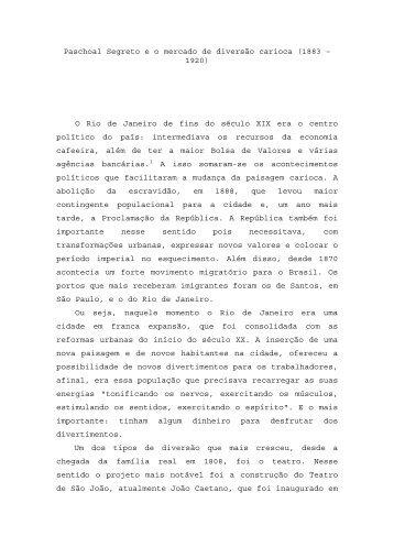 Paschoal Segreto e o mercado de diversão carioca ... - rio.rj.gov.br
