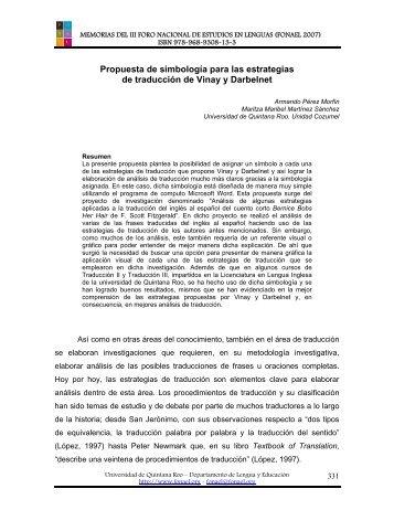 Propuesta de simbología para las estrategias de traducción de ...