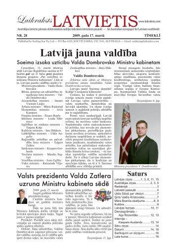 """Laikraksts """"Latvietis"""" 028.1"""