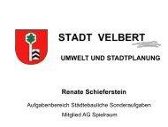 Vortrag Stadt Velbert Projekt Flächennutzungsplan 2020