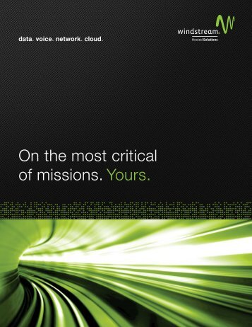 Hosted Solutions Brochure - Windstream