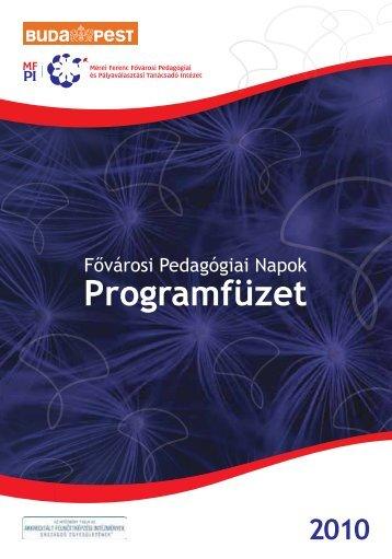 FPN 2010. programfüzet - Mérei Ferenc Fővárosi Pedagógiai és ...