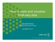 How to store and visualize RNA-seq data