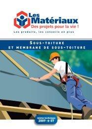 Sous-toiture - Les Matériaux