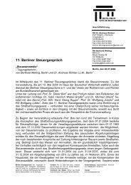 Tagungsbericht 11. Berliner Steuergespräch (PDF-Format)