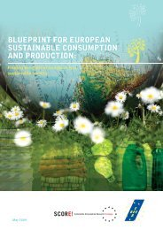 Blueprint for European Sustainable Consumption and ... - EEB