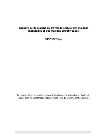 RAPPORT FINAL - Wood Manufacturing Council