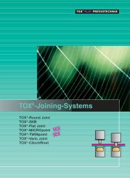 TOX®-Joining-Systems - TOX PRESSOTECHNIK USA