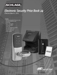 Schlage Elec Sec March 2012 Price Book24.pdf - Access Hardware ...