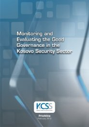 Monitoring and Evaluating the Good Governance in the ... - QKSS