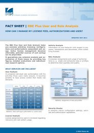 FACT SHEET   RBE Plus User and Role Analysis - IBIS Prof. Thome