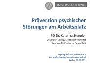 Prävention psychischer Störungen am Arbeitsplatz - Zukunft ...
