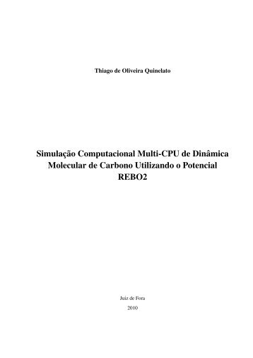Simulaç ˜ao Computacional Multi-CPU de Dinˆamica ... - GCG - UFJF