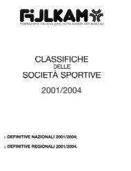 CLASSIFICHE SOCIETA SPORTIVE - Fijlkam