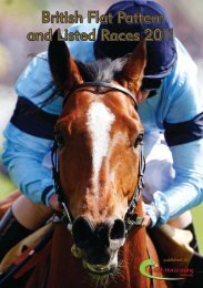 Flat Pattern and Listed Race Book 2011 - British Horseracing Authority