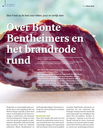 Over Bonte Bentheimers en het brandrode rund - Slow Food ...