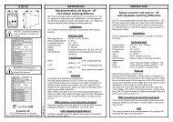 S-SC1/D INSTRUKTION INSTRUCTION ... - Systemair
