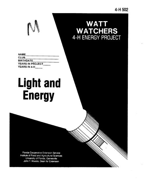 Energy, Light and - Sarasota County Extension - University of Florida