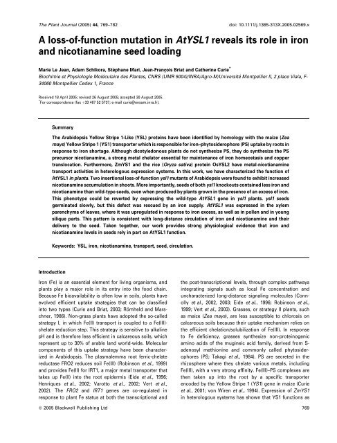 Link to pdf - INRA Montpellier