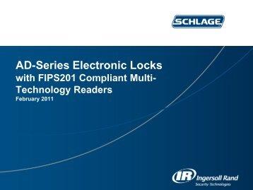 Schlage AD-Series Sales Presentation FIPS201 - Access Hardware ...