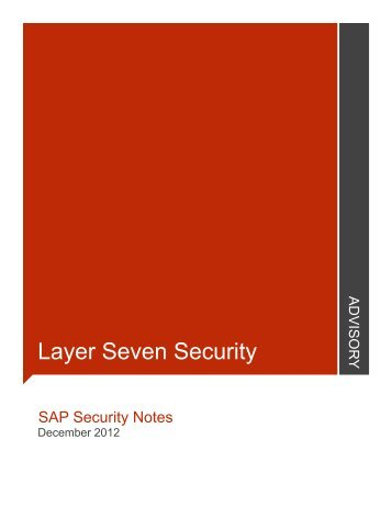 December - Layer Seven Security