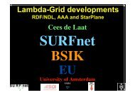 Lambda-Grid developments - Universiteit van Amsterdam