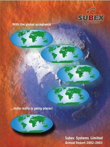 Subex Annual Report 2002-03