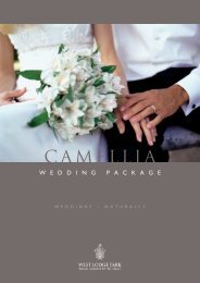 Camellia Package (PDF download) - Beales Hotels