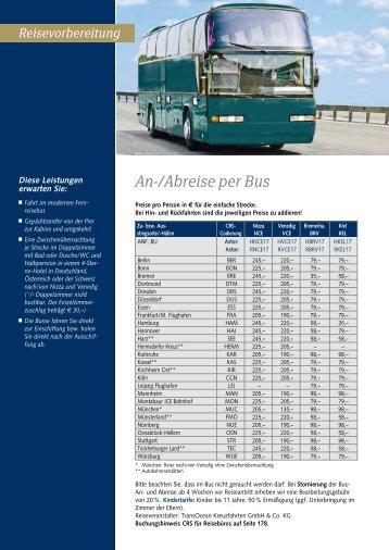 An-/Abreise per Bus - Transocean