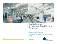 Establishing an Architecture Capability and Profession - Verney ...