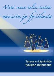 Tasa-arvolehtinen - Fysiikan laitos - Helsinki.fi