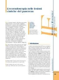 L'ecoendoscopia nelle lesioni cistiche del pancreas - Sied