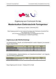 Master ET-TI 2012 - Universität für Musik und darstellende Kunst Graz